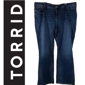 Torrid Premium Blue Slim Boot Jeans Size 18R